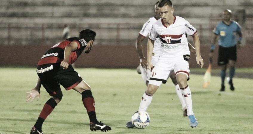 Em jogo de poucas chances, Botafogo-SP e Atlético-GO empatam na Segundona