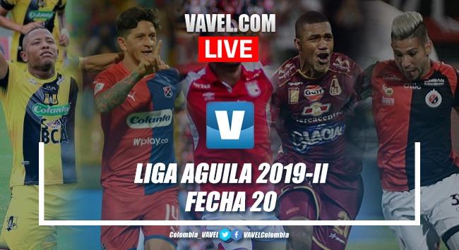 Fecha 20 de la Liga Aguila 2019-II en vivo y en directo