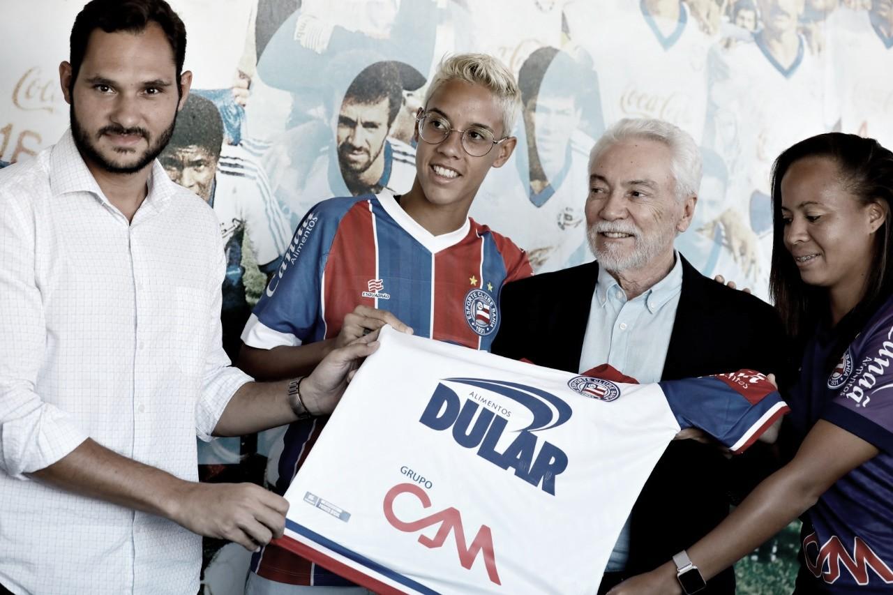 Bahia apresenta novo patrocinador do futebol feminino