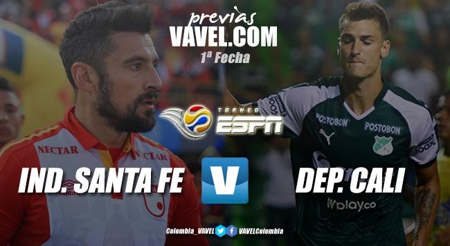 Previa Santa Fe vs Deportivo Cali: los dos equipos se ponen a punto para iniciar la temporada 2020