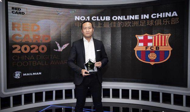 """El Barça recibe el premio Red Card 2020 por ser el mejor club de fútbol """"online"""" en China"""