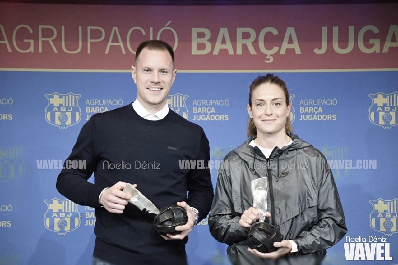 Ter Stegen y Alexia Putellas reciben el premio ABJ
