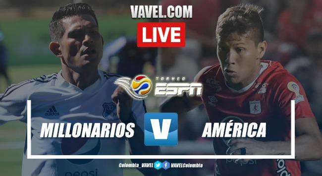 Resumen Millonarios vs. América por la final del Torneo ESPN (1-2)
