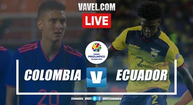 Resumen Colombia 4-0 Ecuador Preolímpico Sub 23 2020