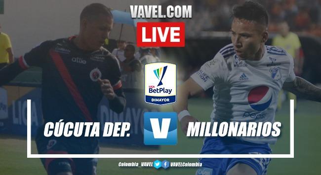 Resumen del encuentro Cúcuta vs Millonarios (1-1)