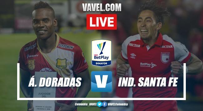 Resumen y goles Águilas Doradas vs. Santa Fe (1-0)