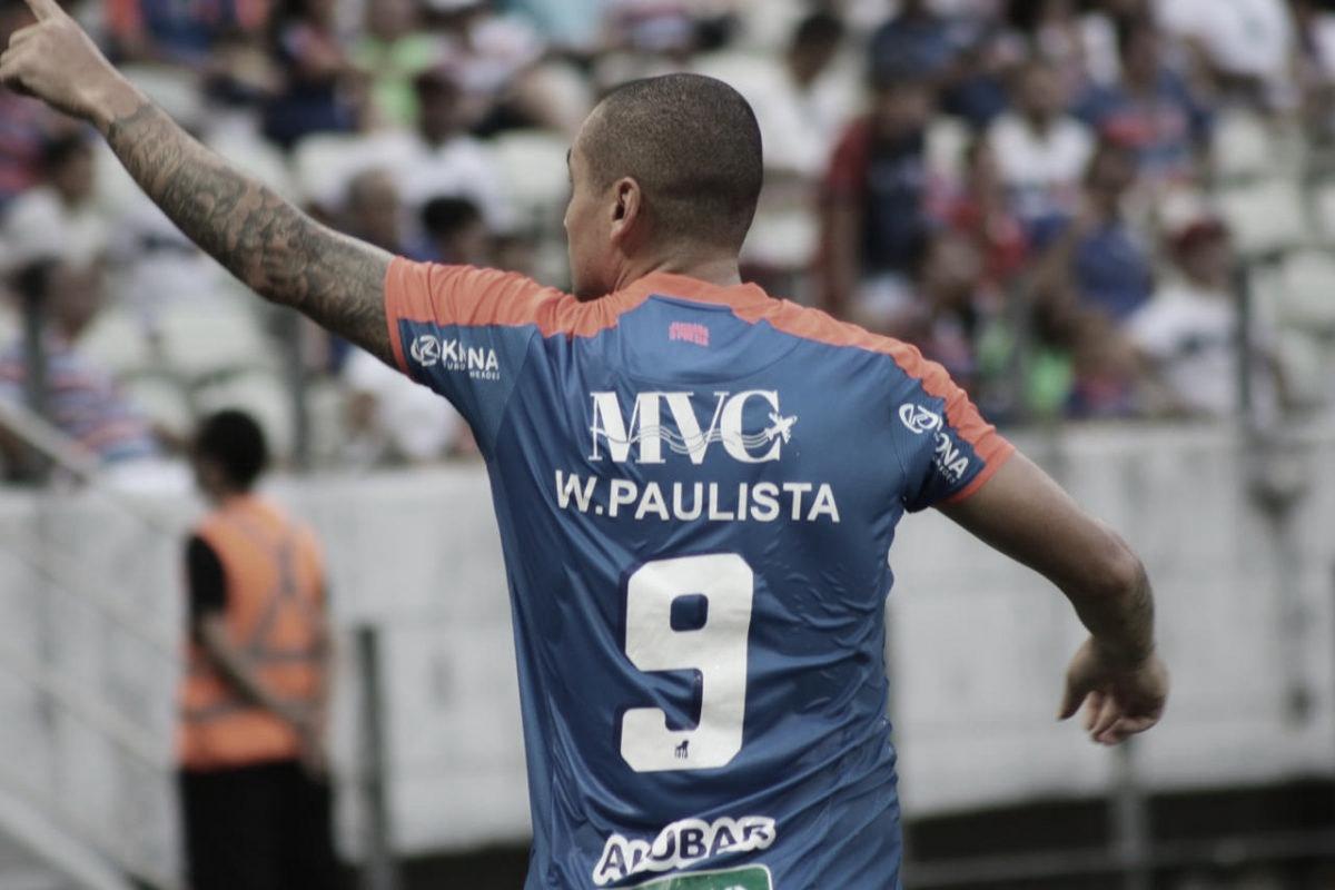 Com dois de Wellington Paulista, Fortaleza vence Santa Cruz com facilidade e assume liderança