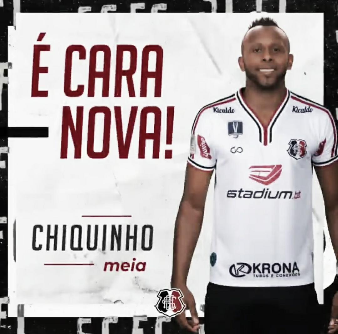 Santa Cruz anuncia contratação do meia Chiquinho