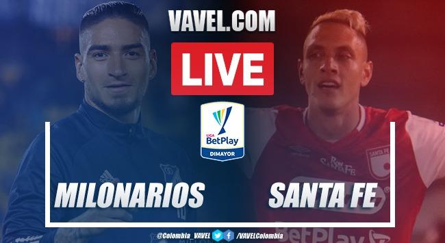 Resumen:Millonarios FC vs Independiente Santa Fe por la fecha 7 de la Liga BetPlay 2020-I (0-0)