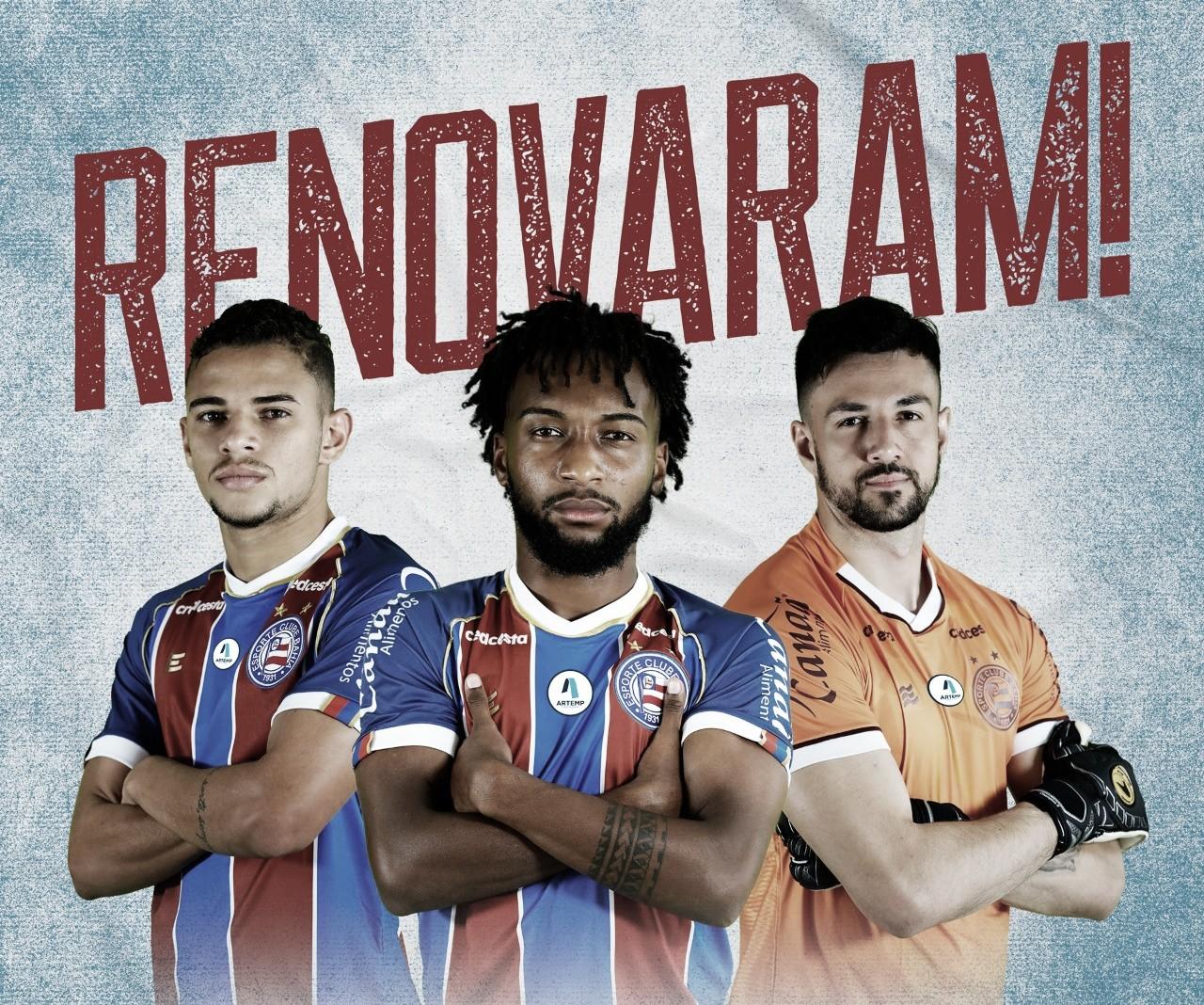Bahia renova contrato com trio de atletas do Sub-23
