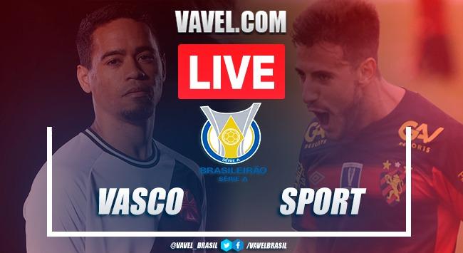 Vasco x Sport AO VIVO: jogo online no Campeonato Brasileiro 2020