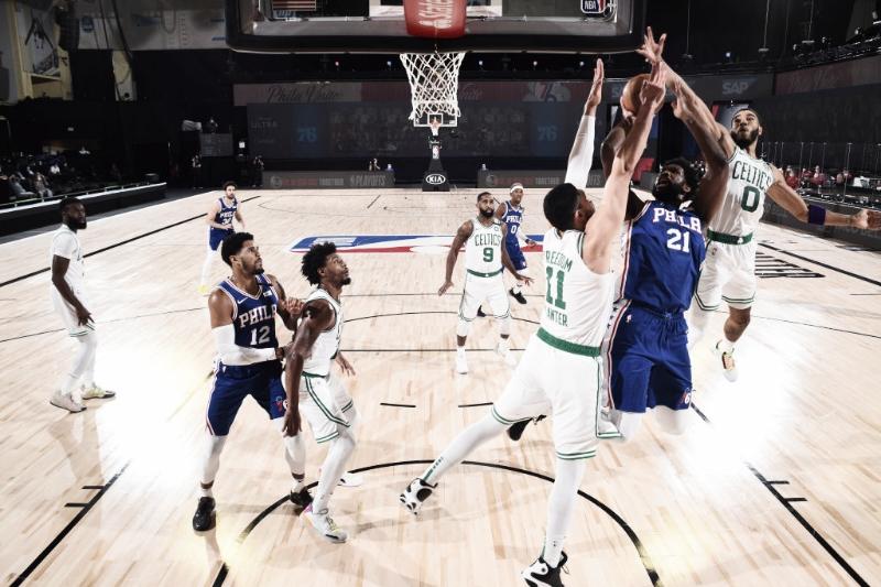 Boston Celtics varre Philadelphia 76ers e aguarda Raptors na próxima rodada