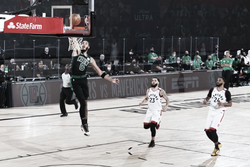 Na abertura da semifinal da Conferência Leste, Celtics dominam e abrem vantagem sobre Raptors