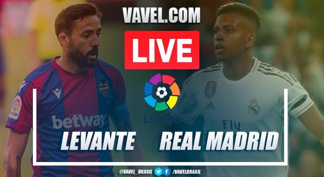Gols e melhores momentos de Levante x Real Madrid em LaLiga (0-2)
