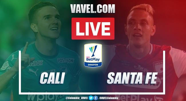 Resumen: Deportivo Cali vs Independiente Santa Fe (3-2) por Liga BetPlay