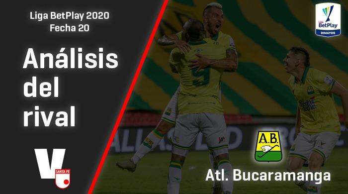 Independiente Santa Fe, análisis del rival: Atlético Bucaramanga (Fecha 20, Liga 2020)