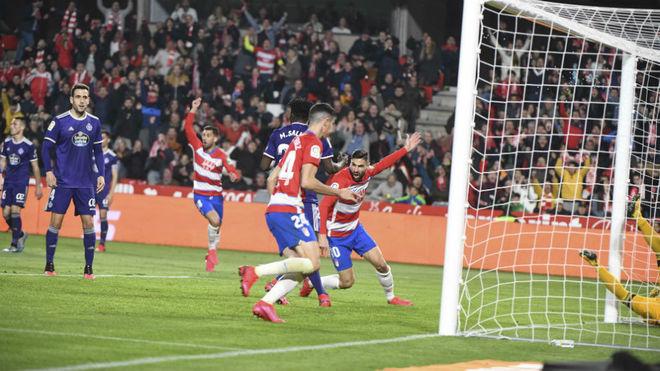 Gol de Antonio Puertas ante el Valladolid. Foto: Granada CF