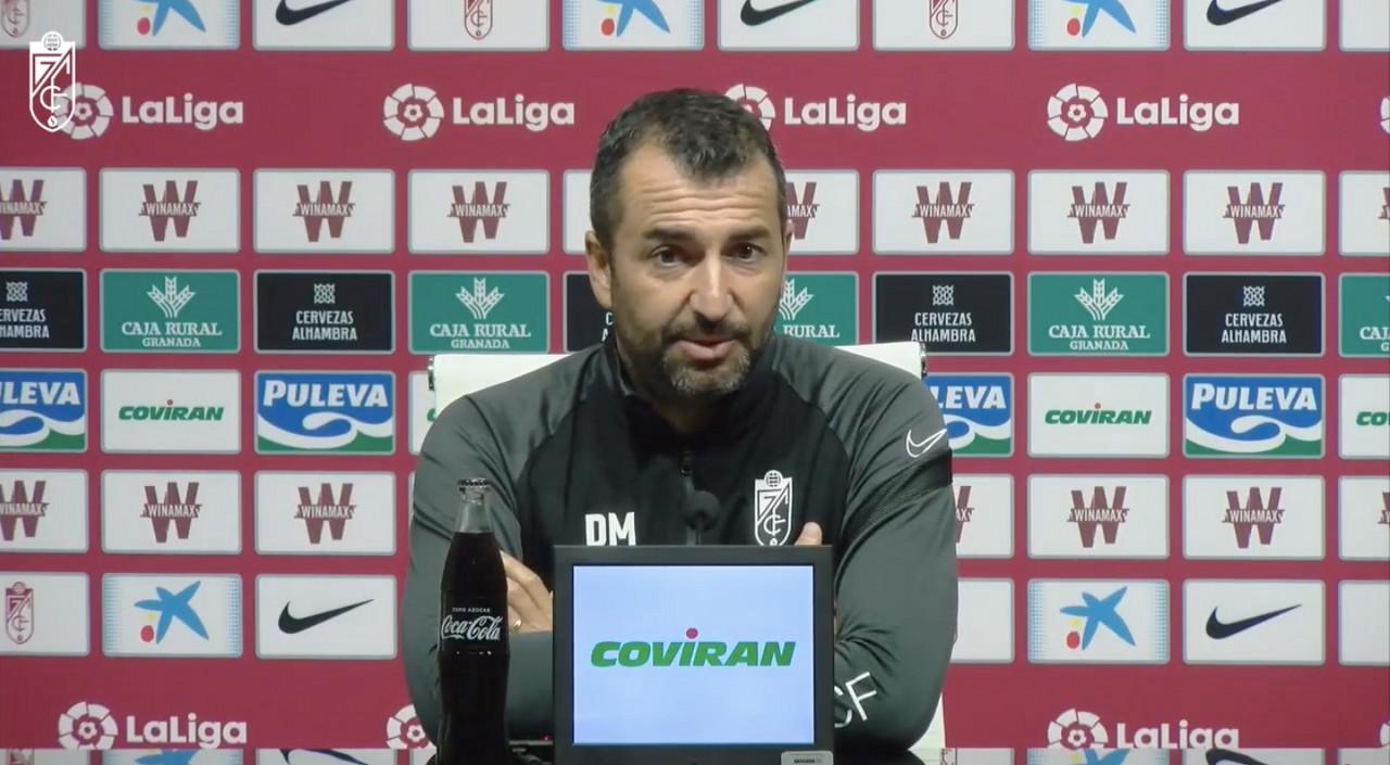 Diego Martínez en rueda de prensa telemática