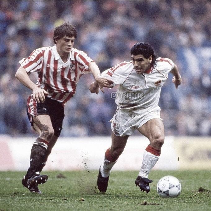 Maradona con Julen Guerrero (Ig: Maradona)