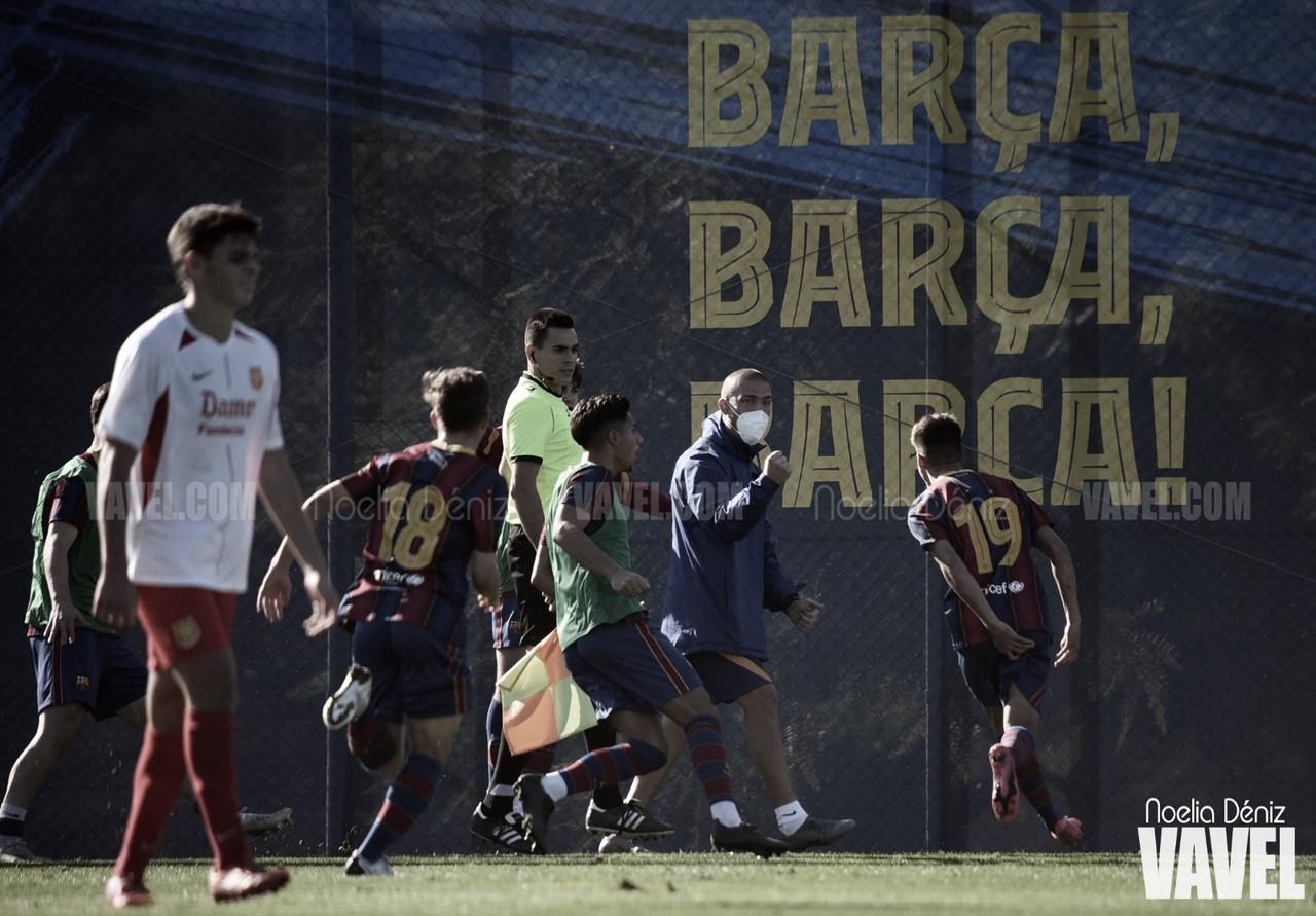 El FCB Juvenil A rompe al CF Damm sobre la bocina
