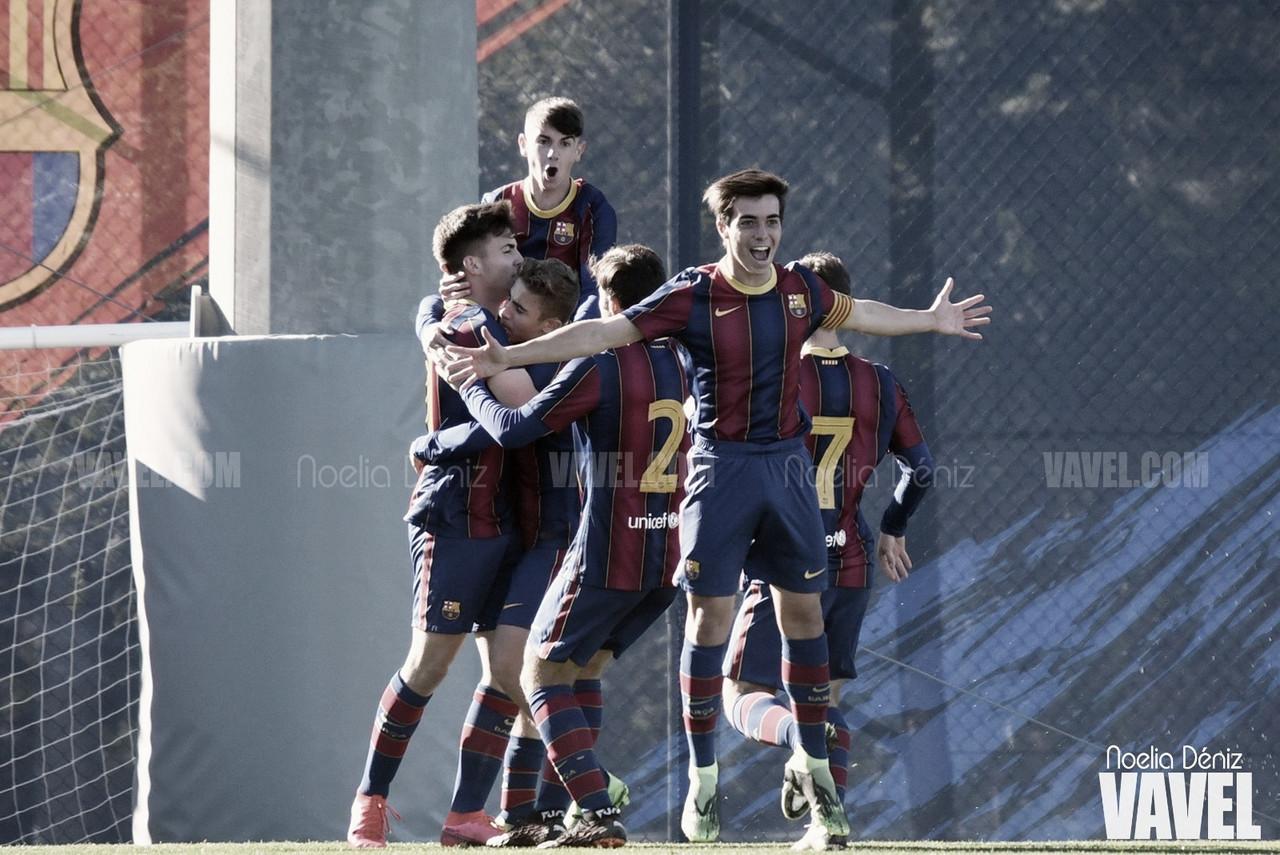 El FCB Juvenil B sella un pleno al quince tras derrocar el muro del Gimnàstic de Manresa