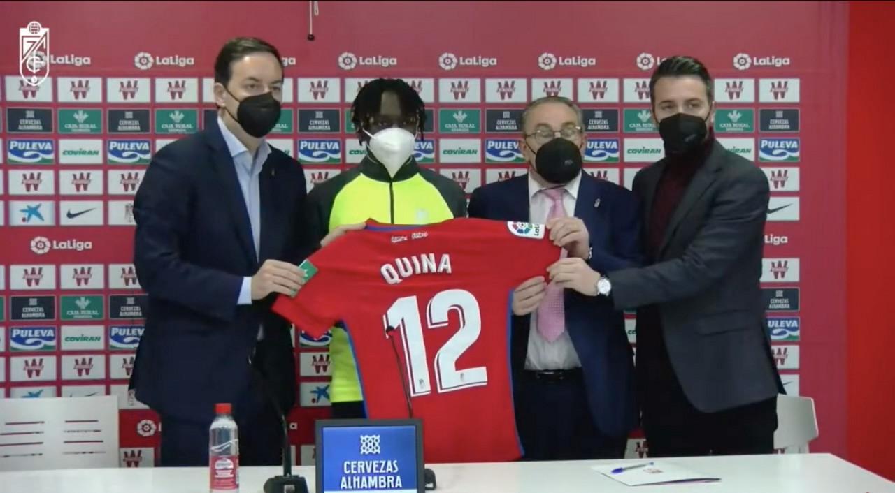 Domingos Quina y Adrián Marín, presentados como nuevos jugadores del Granada CF