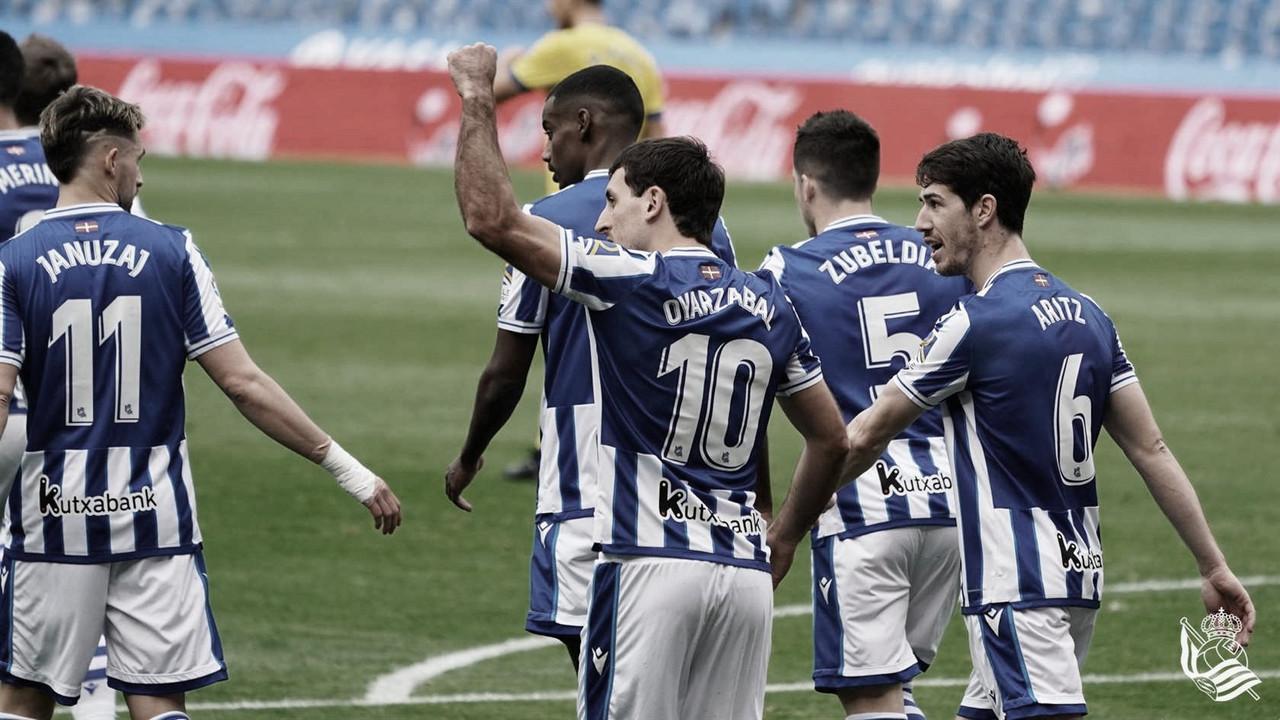 Real Sociedad - Cádiz: puntuaciones de la Real Sociedad en la jornada 22 de LaLiga Santander