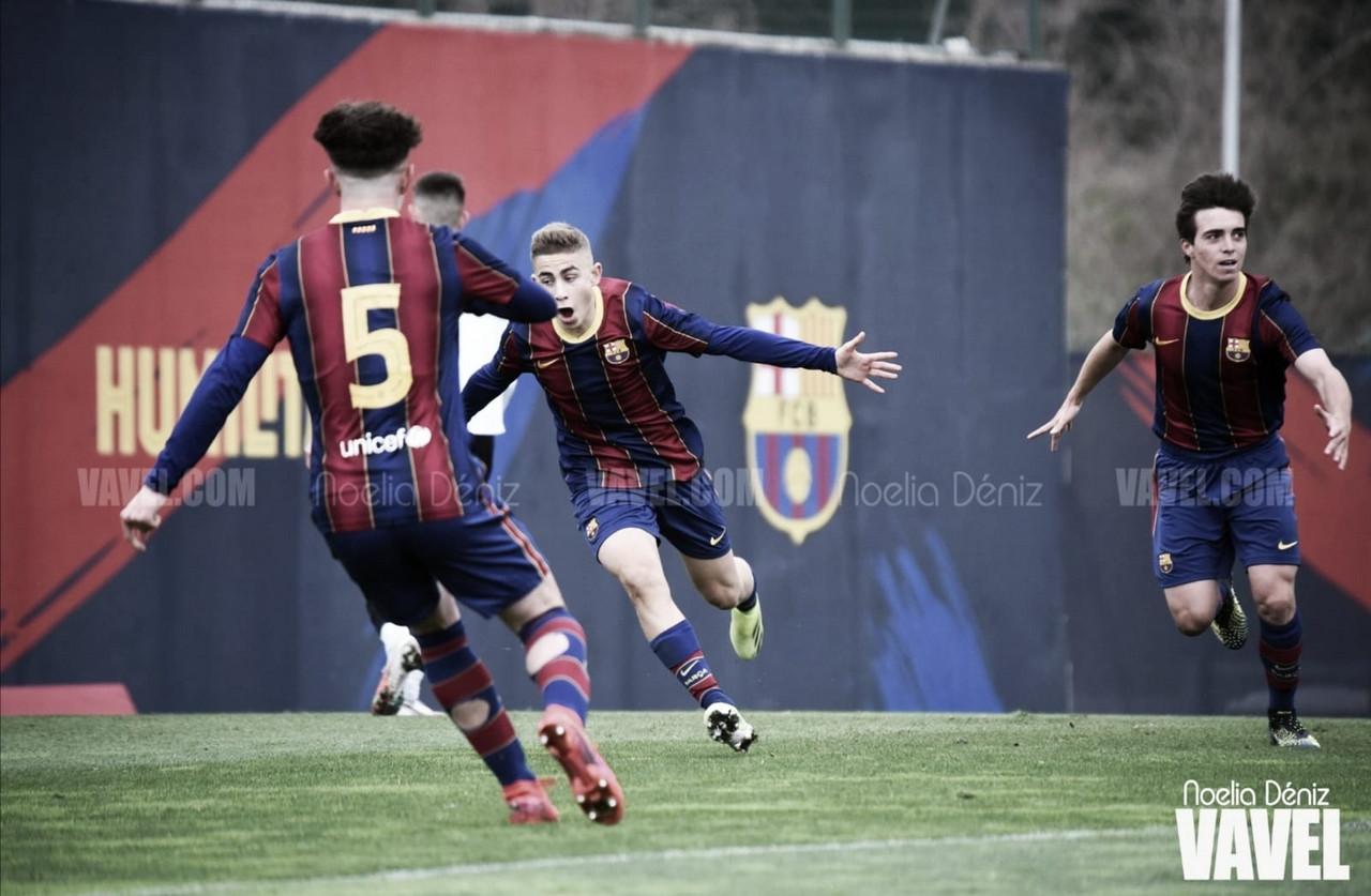 Un FCB Juvenil B con oficio vence al AE Prat por la mínima