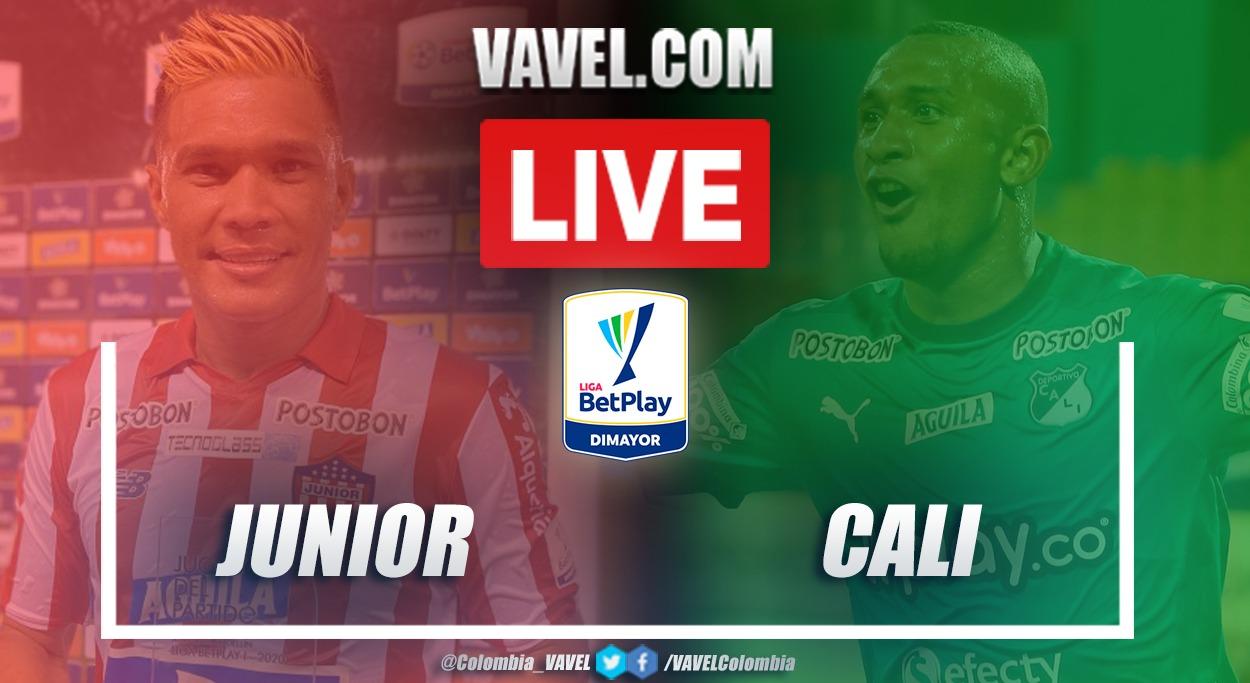 Resumen Junior vs Deportivo Cali (1-2) por la fecha 7 de la Liga BetPlay 2021-I