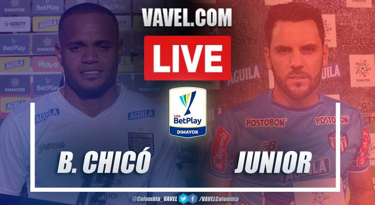 Resumen Boyacá Chicó vs Junior (2-1) en la fecha 8 por la Liga BetPlay 2021-I