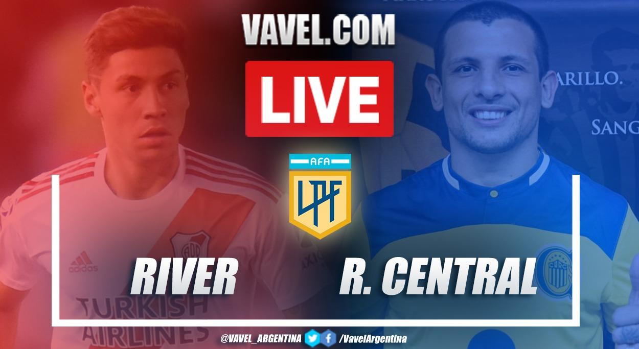 Resumen River Plate (3-0) Rosario Central en la fecha 2 de la Copa de la Liga Profesional 2021