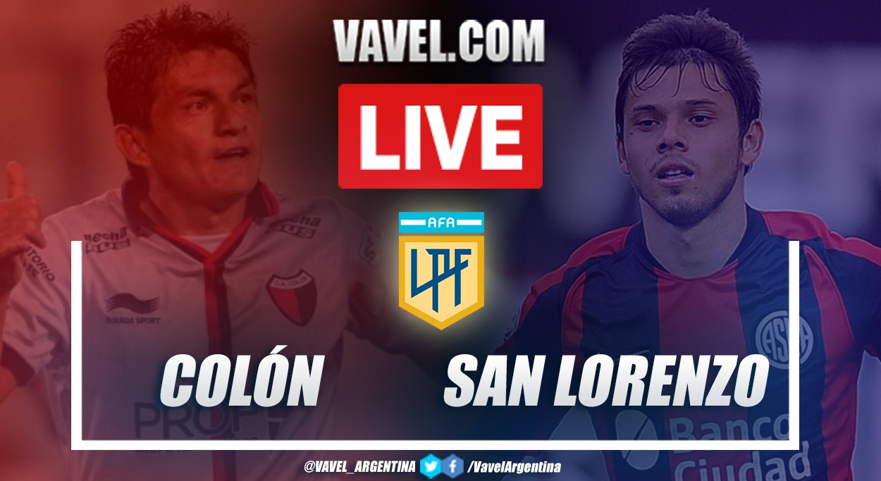 Resumen Colón vs San Lorenzo (2-0) por la fecha 2 de la Copa de la Liga Profesional
