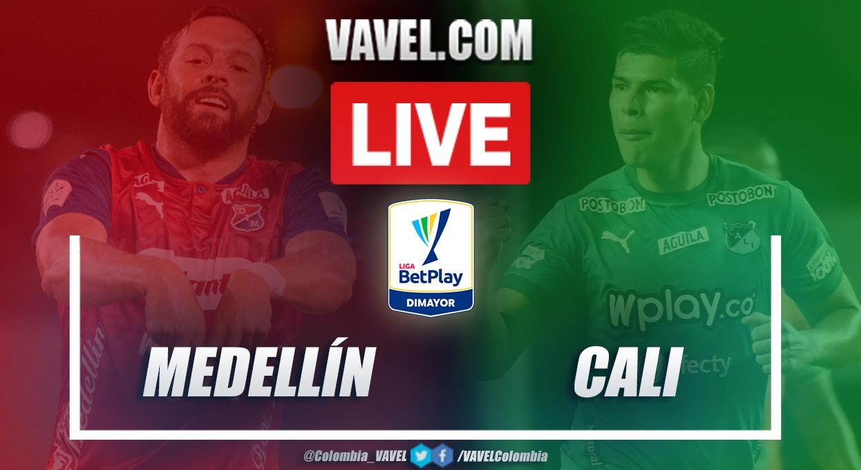 Resumen Medellín vs Cali (1-1) en la fecha 9 por Liga BetPlay 2021-I