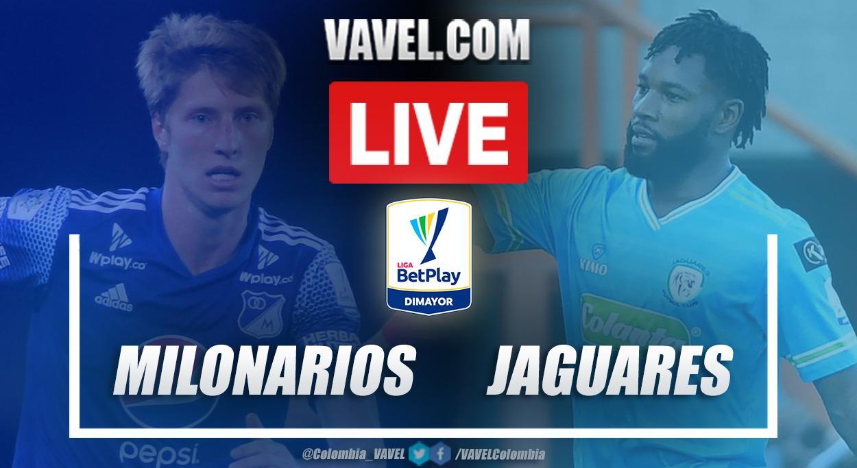 Resumen Millonarios vs Jaguares (0-2) en la fecha 10 por Liga BetPlay 2021-I