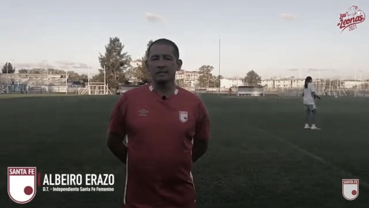 """Albeiro Erazo: """"El equipo está concentrado, sabe lo que quiere y sabemos que el Atlético es un equipo fuerte"""""""