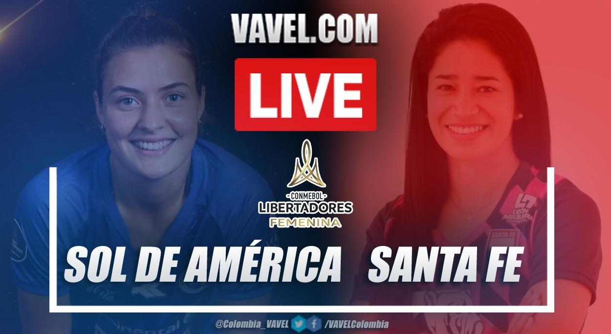 Resumen Sol de América vs Santa Fe (0-1) por la fecha 3 de la Copa Libertadores Femenina