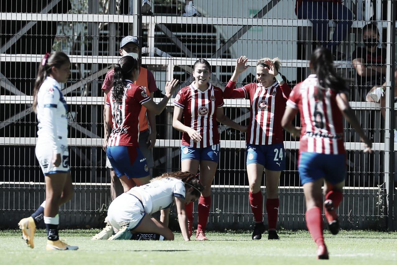 Hat-trick de Alicia Cervantes da triunfo a Chivas Femenil sobre Puebla