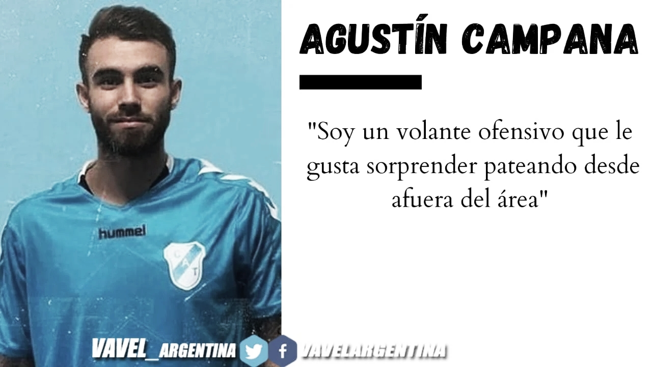 """Agustín Campana: """"Estoy muy feliz de haber llegado a Temperley"""""""