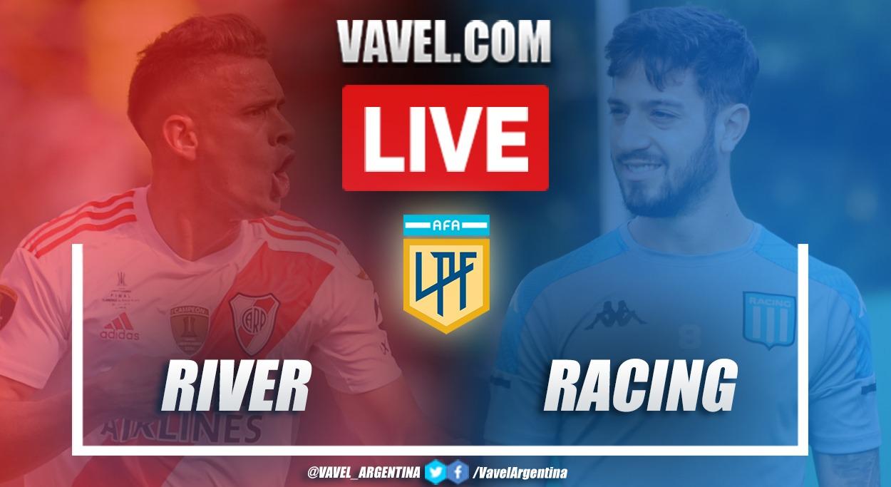 Resumen River vs Racing (0-0) en la fecha 7 por Copa de la Liga Profesional Argentina