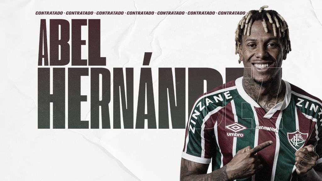 """Novo reforço do Flu, Abel Hernández destaca Fred: """"Goleador nato"""""""