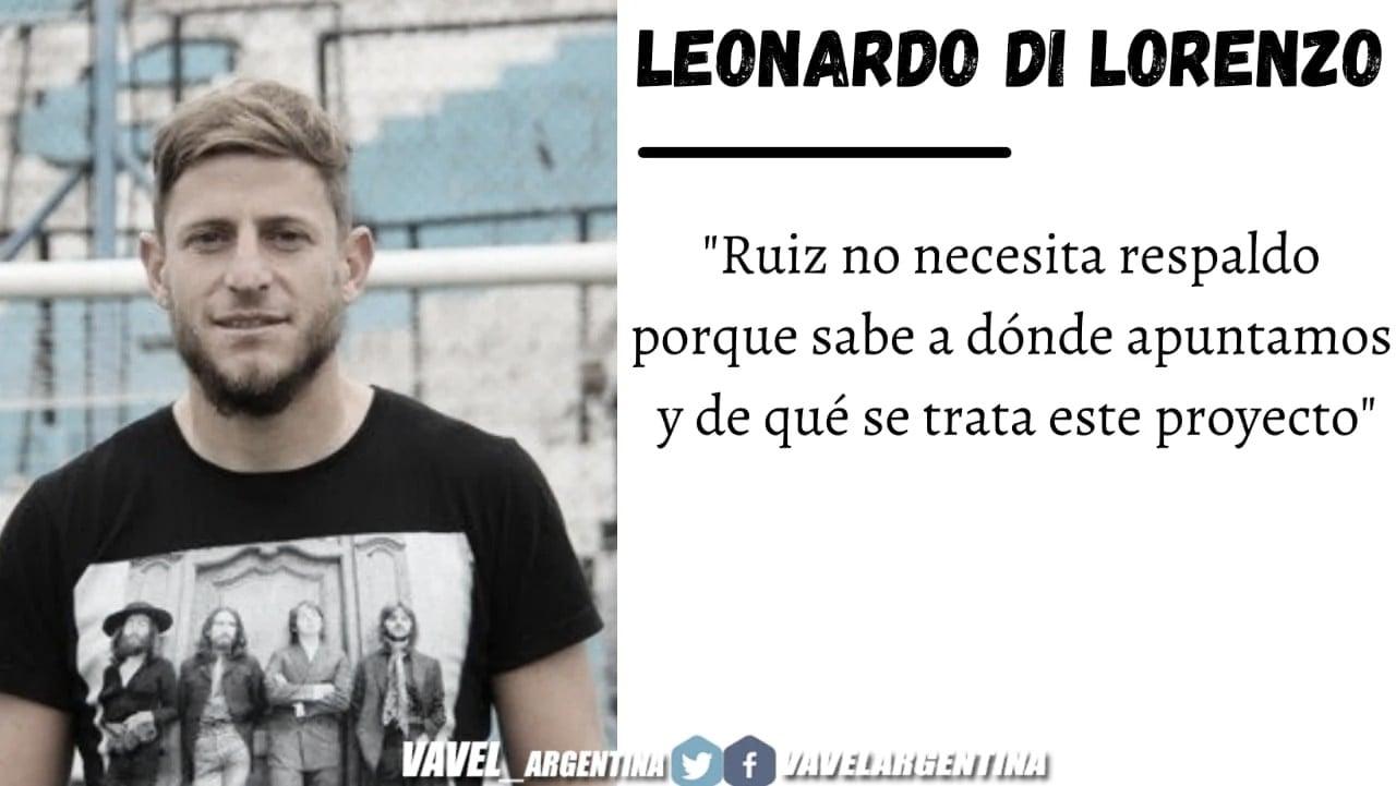 """Entrevista. Leonardo Di Lorenzo: """"Al equipo le falta rodaje y trabajo, esto recién comienza"""""""