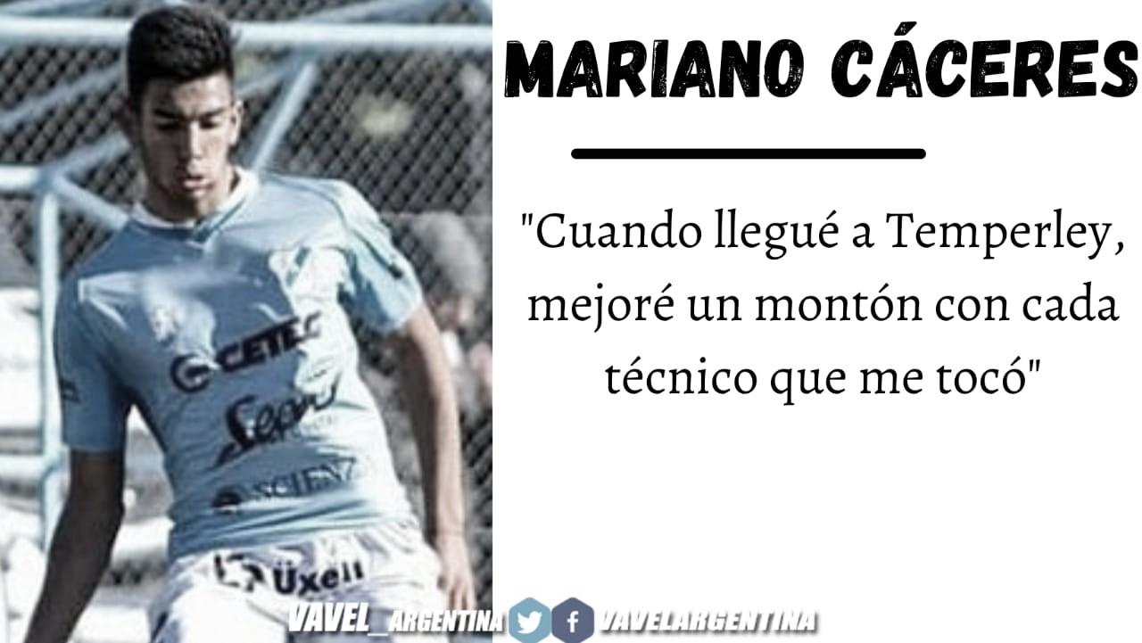 Mariano Cáceres: ''Si el día de mañana me toca subir, quiero estar lo mejor preparado''