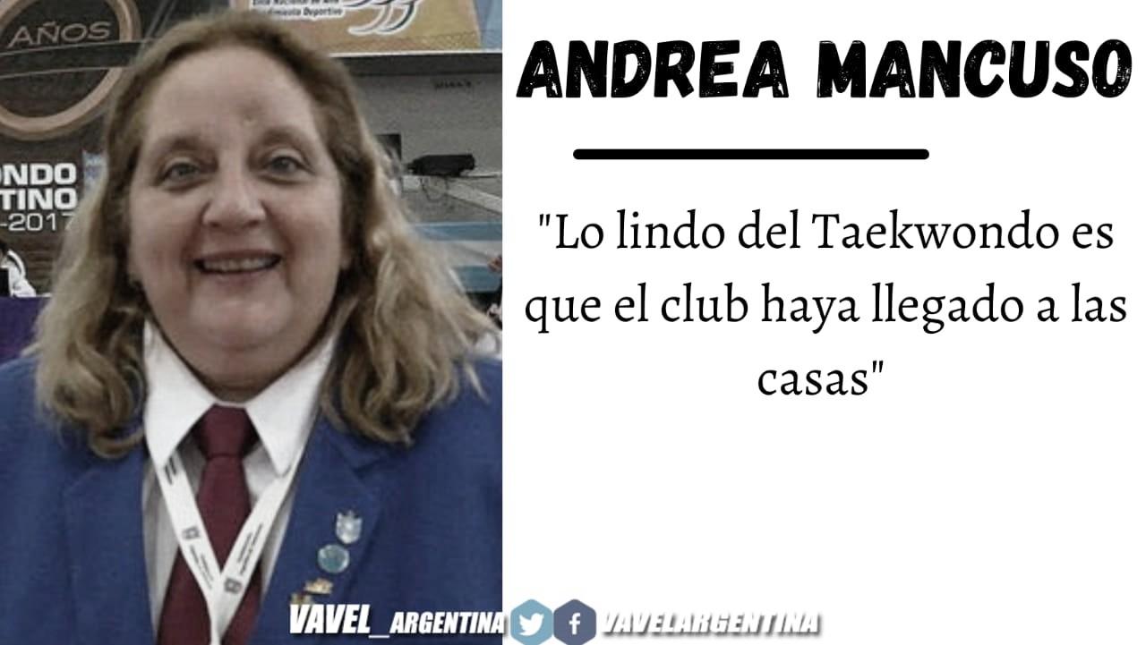 """Andrea Mancuso: """"Lo lindo del Taekwondo es que no tiene una edad límite"""""""