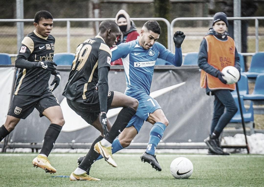 """Lucas Villela celebra liderança do FK RFS na Liga da Letônia: """"Cirúrgico nos resultados"""""""