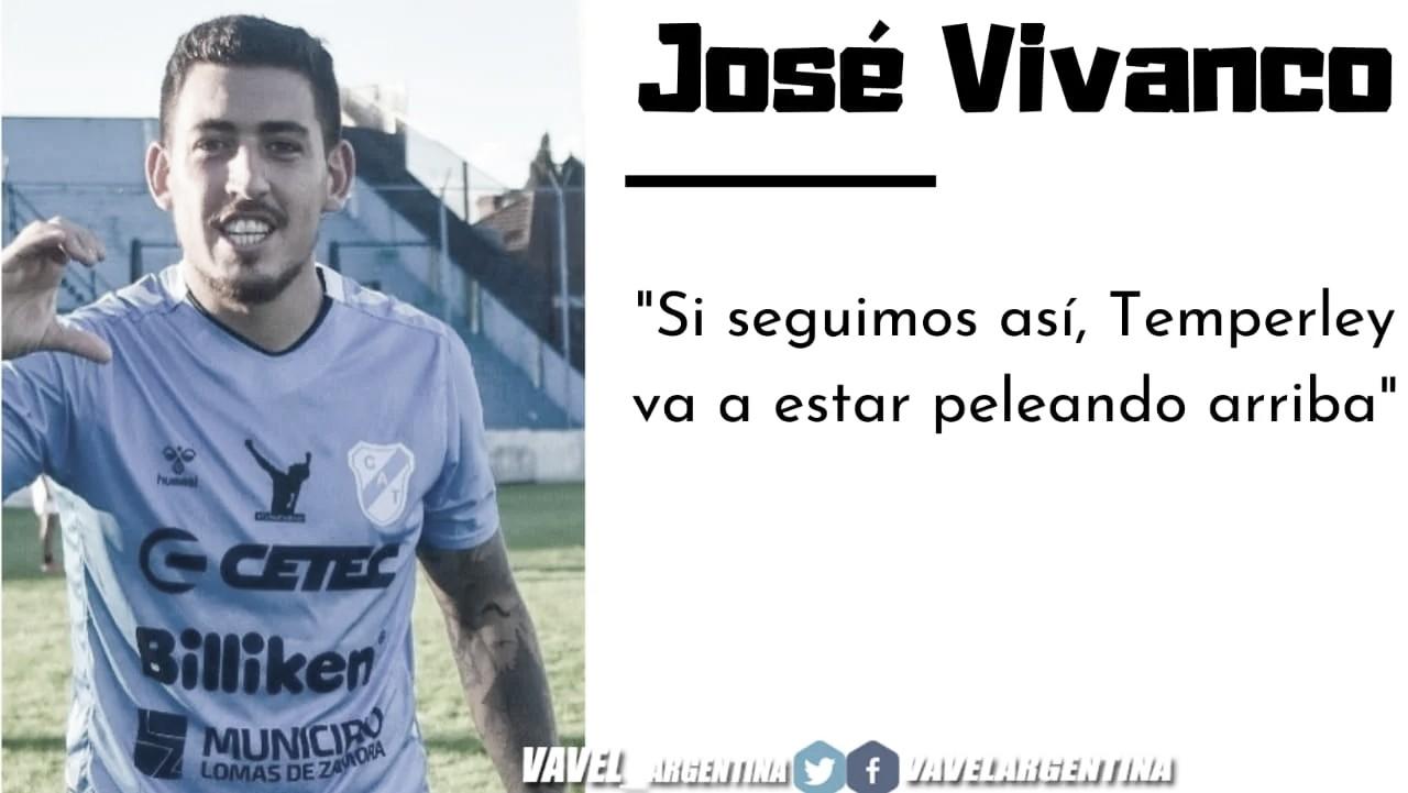 """José Vivanco: """"Se está viendo un Temperley con volumen de juego y confianza"""""""
