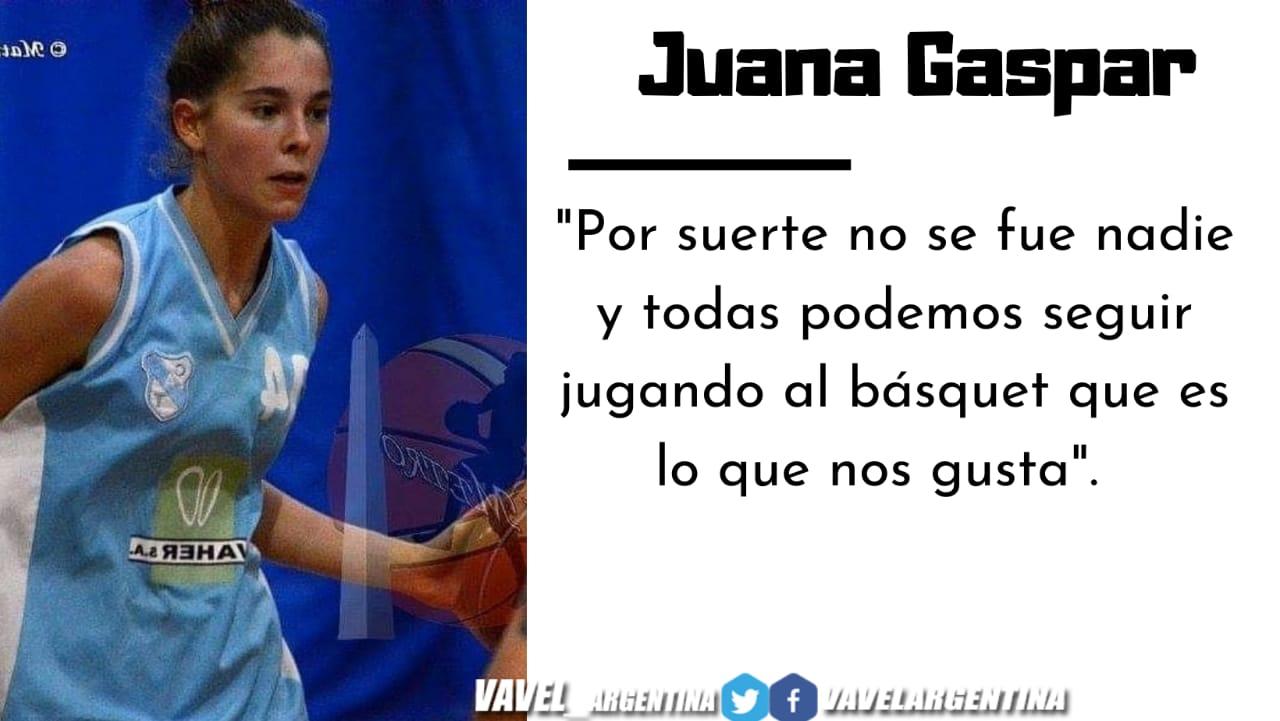 Juana Gaspar: ''Me enamoré del básquet porque es el deporte más hermoso''.