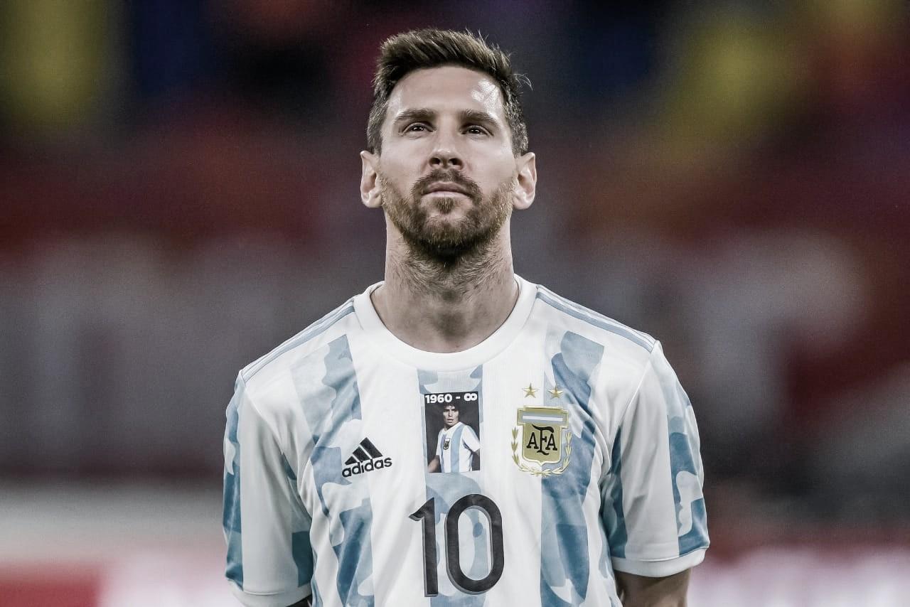 """Lionel Messi: """"Estoy contento por el resultado más allá de que no pudimos ganar"""""""