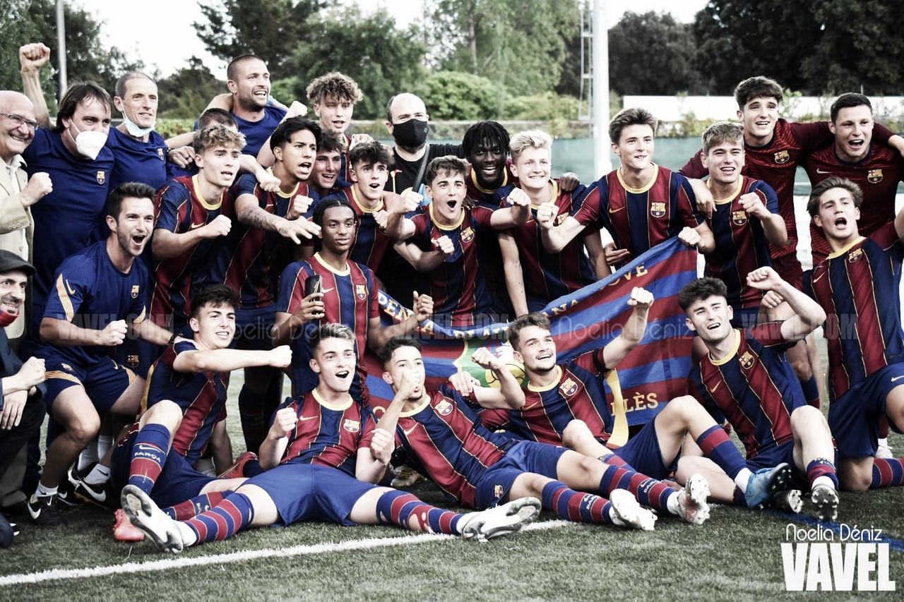 El FCB Juvenil A se acomoda la corona de campeón en el último suspiro