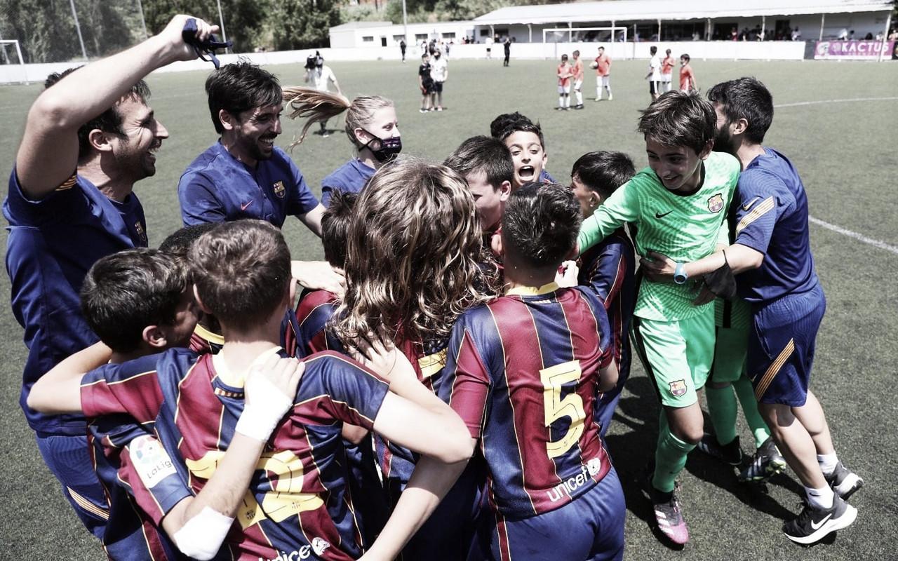 Los alevines del Barça tiñen la Liga de azulgrana
