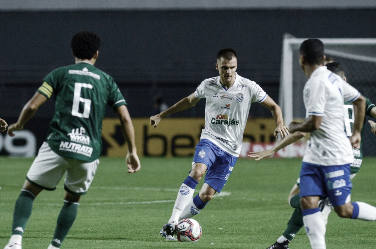 CSA marca primeiro gol, busca empate diante do Guarani e segue sem vencer na Série B